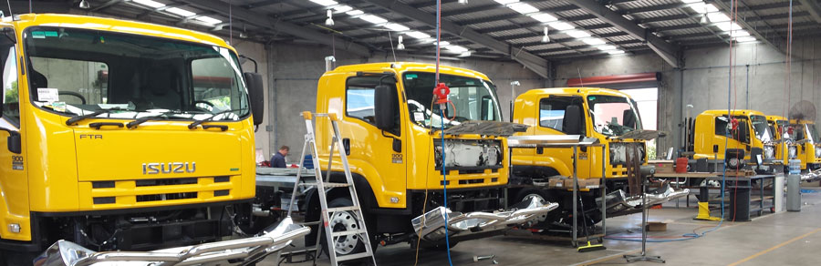 Isuzu Fire Truck Builds in Progress