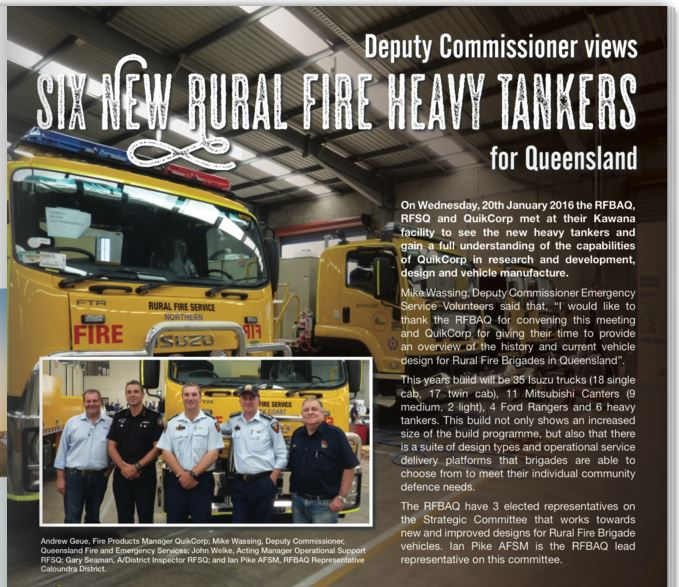 Deputy Commissioner Visits Quik Corp Fire Engineering
