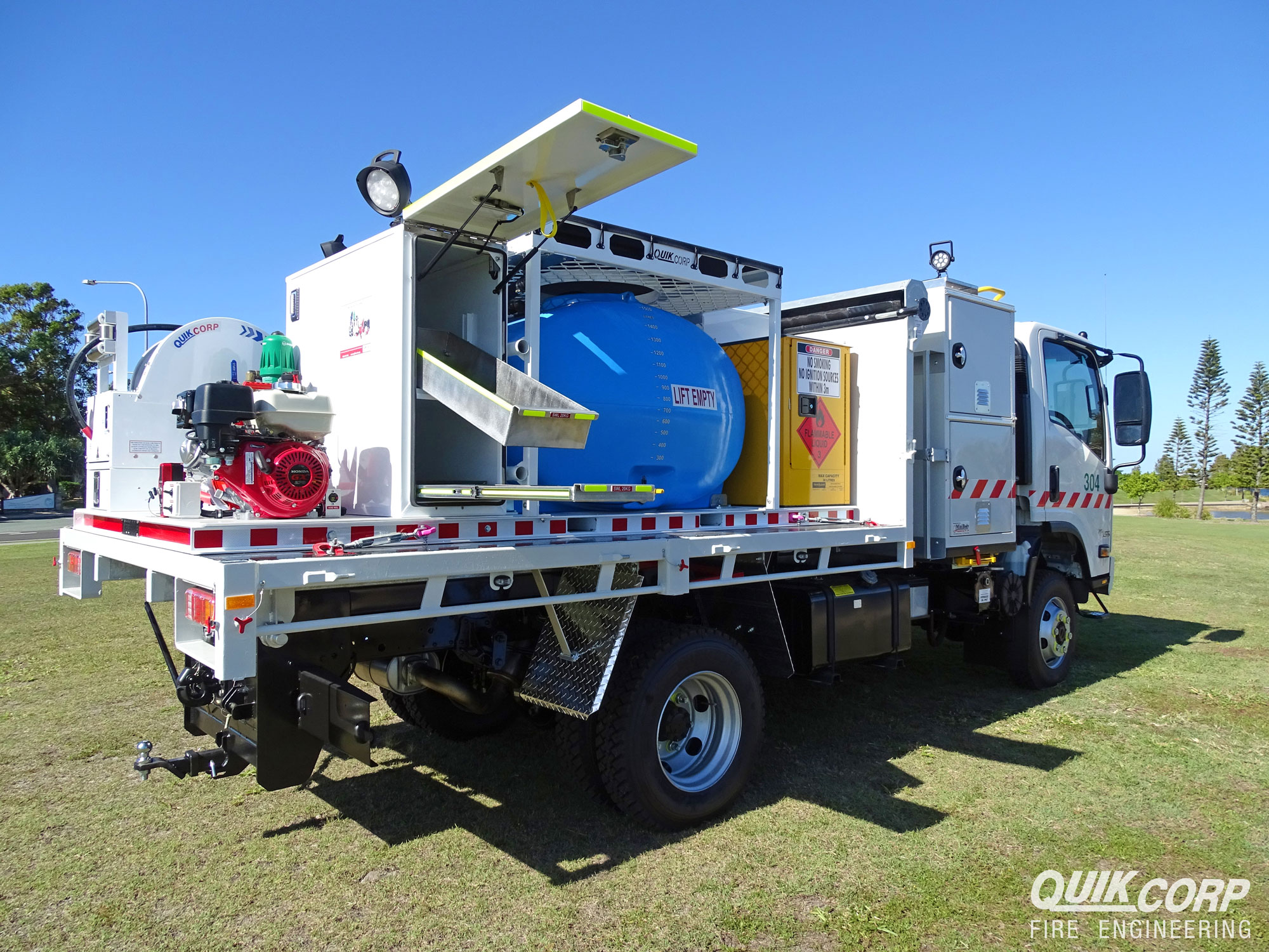 removable firefighting platform quik corp fire engineering