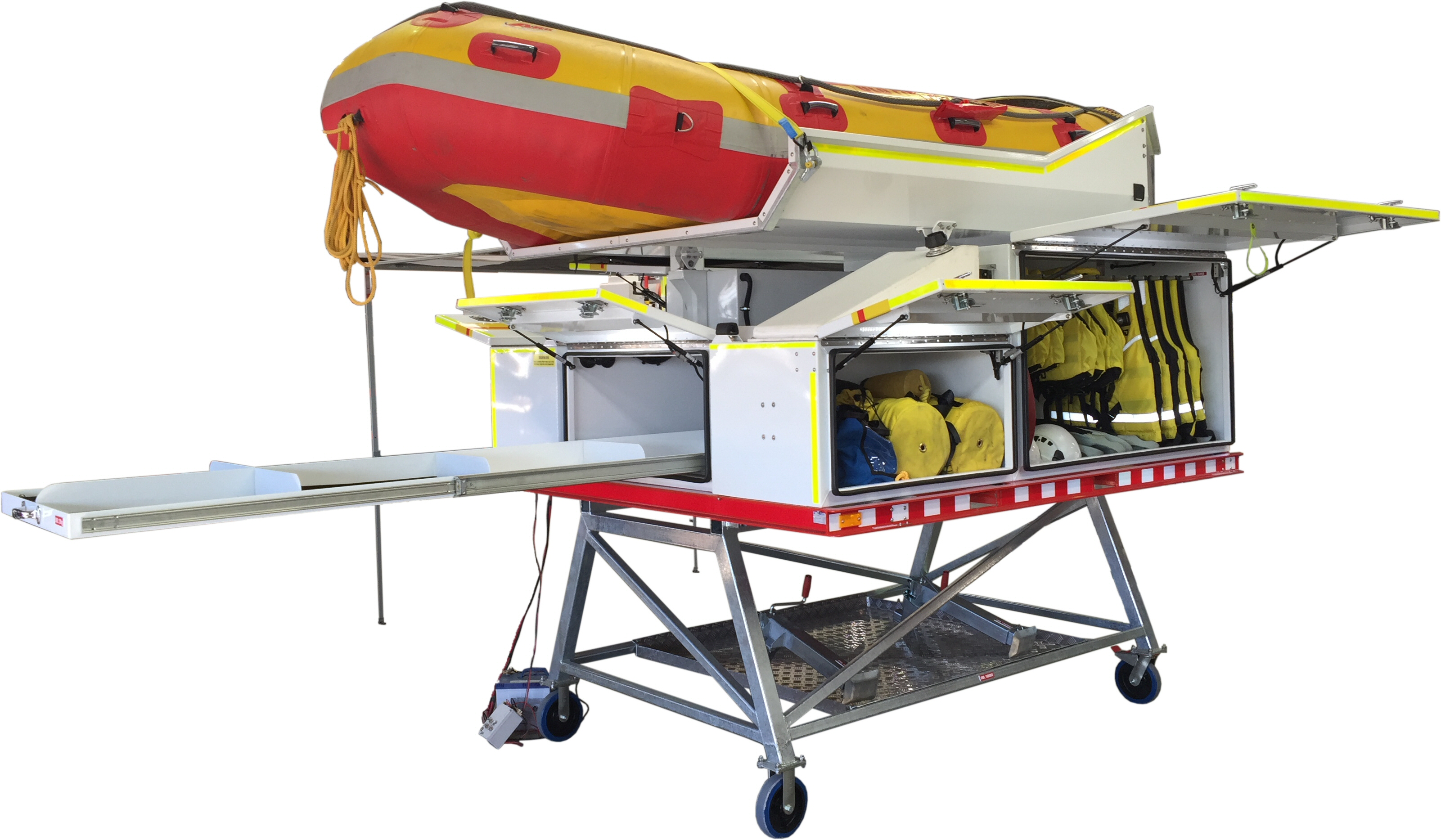 Swift Water Rescue Pod with storage